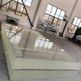 1 इन्च एक्रिलिक गिलास शीट plexi ग्लास मोटो प्लास्टिक ग्रीनहाउस कवर को लागि pmma पाना