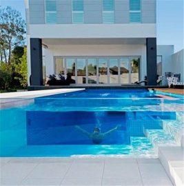 स्विमिंग पूल प्रोजेक्टको लागि पारदर्शी ऐक्रेलिक मोटो plexiglass पाना प्यानल अनुकूलित
