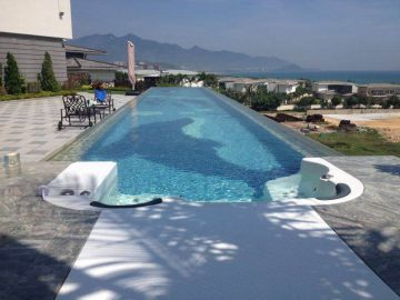 स्विमिंग पूल को लागि पारदर्शी प्लास्टिक छत