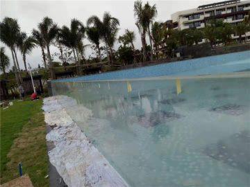 कस्टम कटौती आउटडोर एक्रिलिक स्विमिंग पूल पैनलों